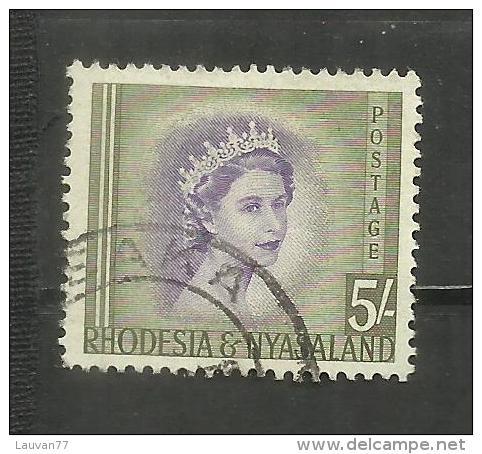 Rhodesie-Nyassaland N°13 Cote 6 Euros - Rhodesia & Nyasaland (1954-1963)