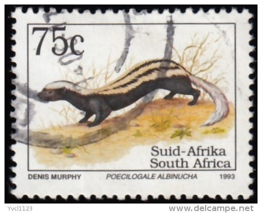 SOUTH AFRICA - Scott #861 Poecilogale Albinucha / Used Stamp - Stamps