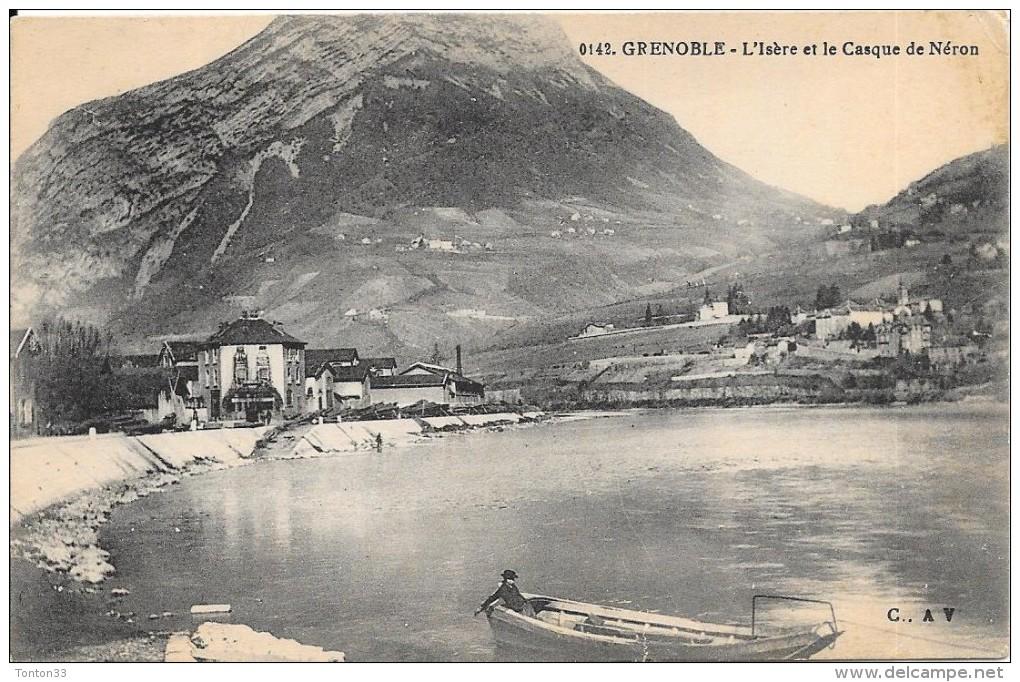 GRENOBLE - 38 -   L'Isère Et Le Casque De Néron - Barque Au 1er Plan - 575 - - Grenoble