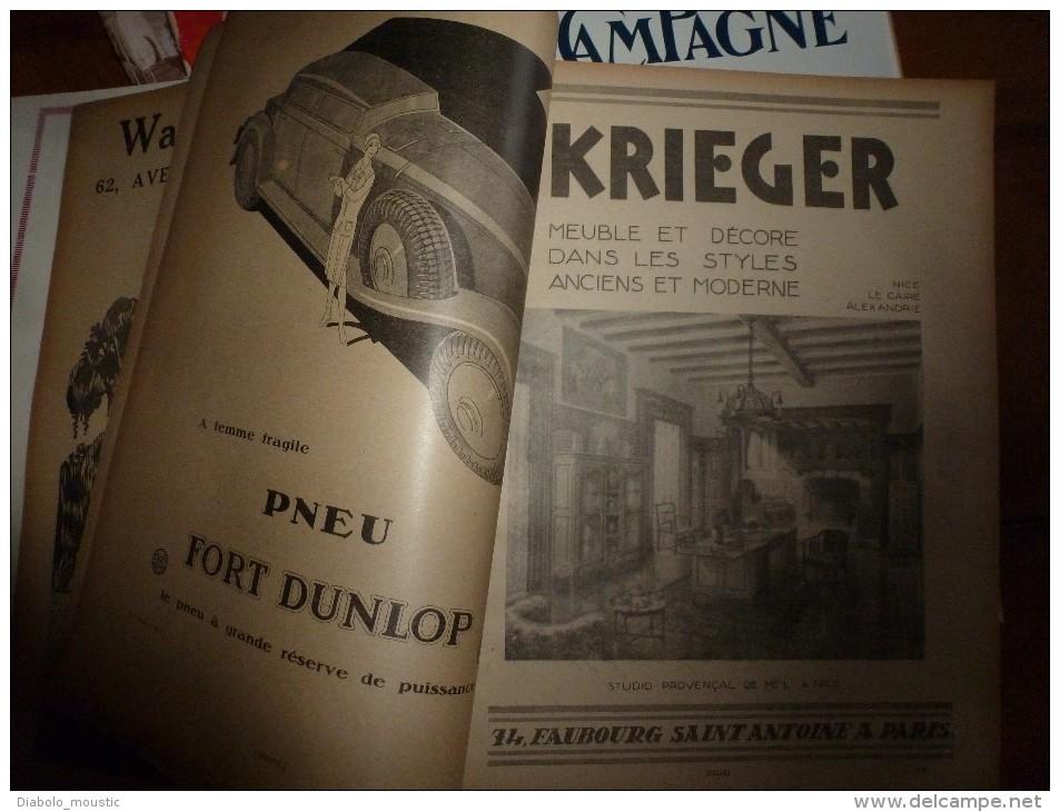 Rare (belles Publicités: Goefft,Erel,Sem,etc)  1930 VIE A LA CAMPAGNE :6 Numéros (janvier,février,mars, Avril,mai,juin) - Livres, BD, Revues