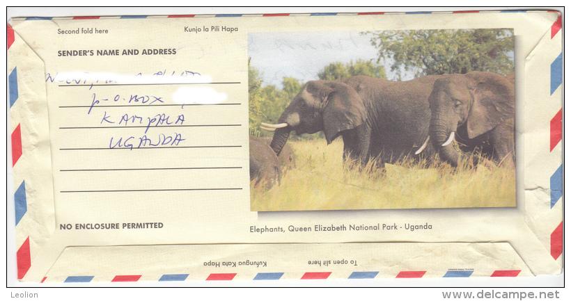UGANDA Aerogramme Mountain Gorilla With Imprinted Stamp (Giraffes) USED Ouganda - Uganda (1962-...)