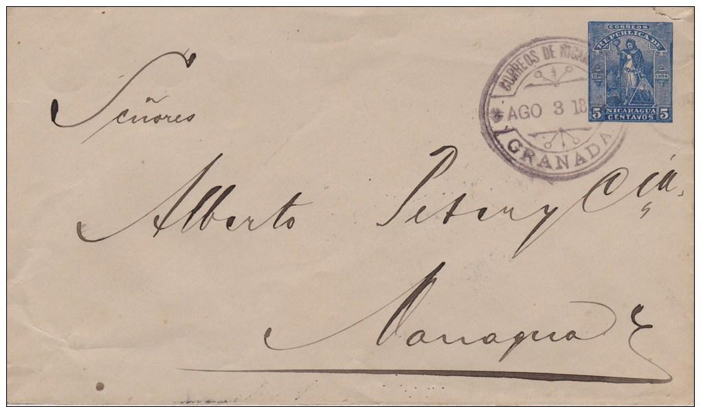 Nicaragua; Postal Cover 1918 - Nicaragua