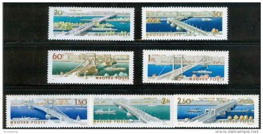 HUNGARY - 1964. Danube Bridges,Budapest Cpl.Set MNH! - Ungebraucht
