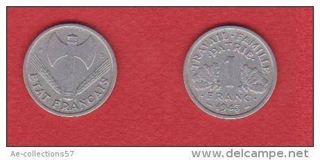 Gad # 471 --   1 Franc 1943 B    --  état TB  --  RARE - H. 1 Franc