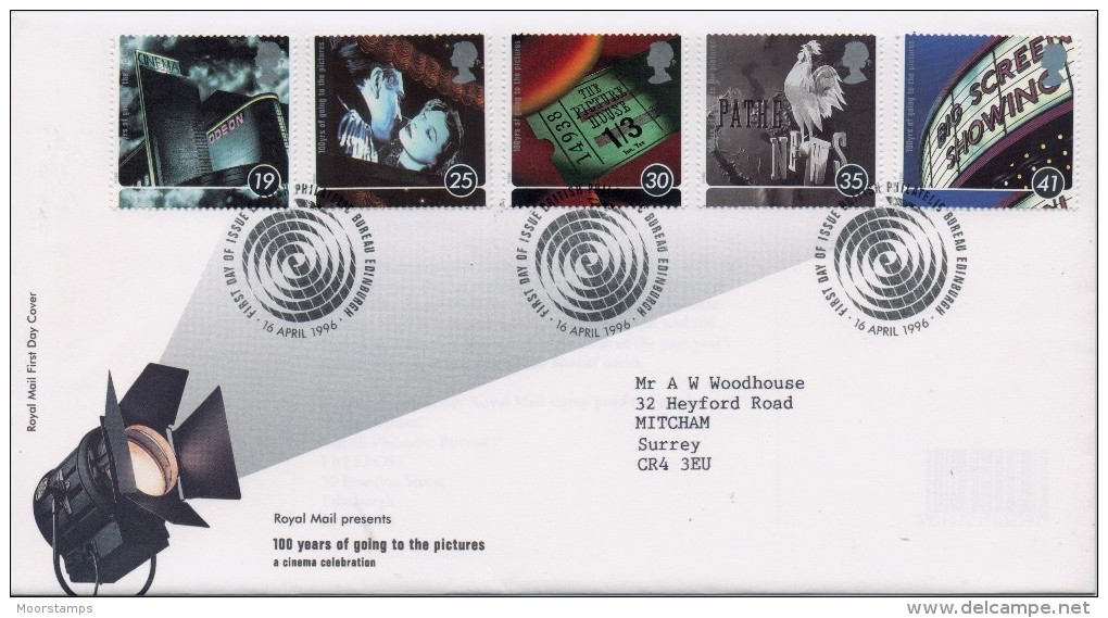 GB First Day Cover To Celebrate 100 Years Of The Cinema. - FDC