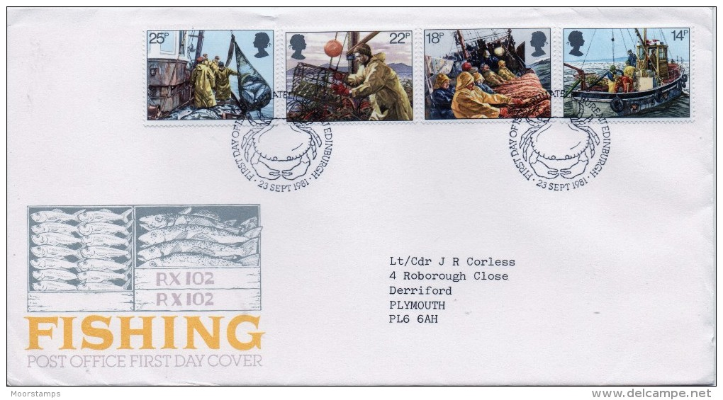 GB First Day Cover To Celebrate Deep Sea Fishing. - FDC