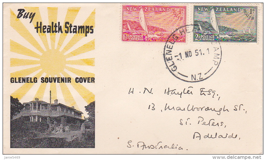 New Zealand Illustrated FDC 1951 Health - FDC