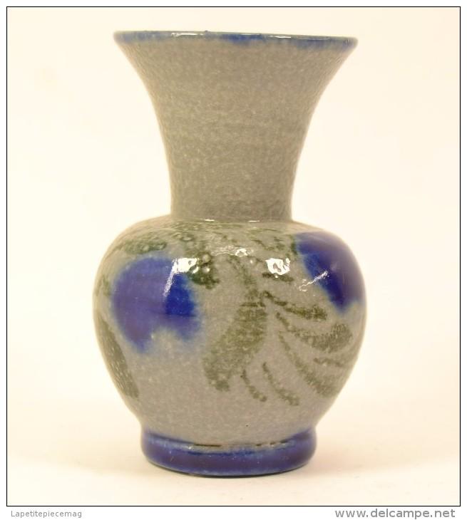 Petit Vase En Grès Au Sel D'Alsace, Souvenir De France - Strasbourg (FRA)