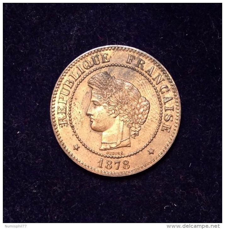 5 C. Cérès - 1878 A - TTB+ - C. 5 Centimes