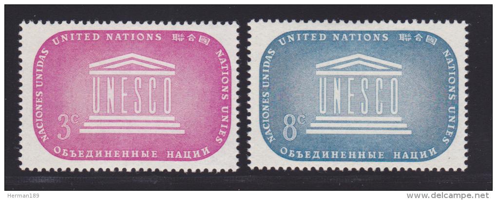 NATIONS UNIES NEW-YORK N°   33 & 34 * MLH Neufs Avec Charnière, TB  (D1290) - New York -  VN Hauptquartier