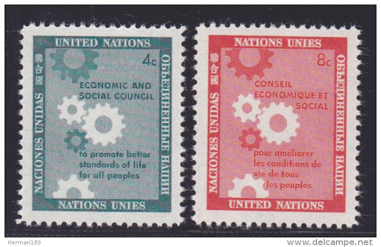 NATIONS UNIES NEW-YORK N°   62 & 63 * MLH Neufs Avec Charnière, TB  (D1302) - New York -  VN Hauptquartier