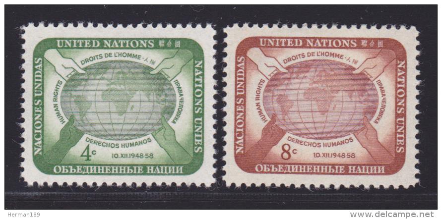 NATIONS UNIES NEW-YORK N°   64 & 65 * MLH Neufs Avec Charnière, TB  (D1301) - New York -  VN Hauptquartier