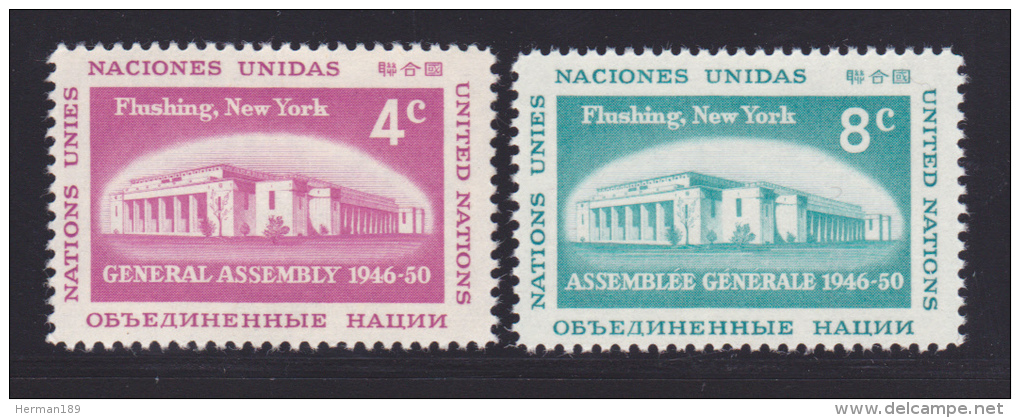 NATIONS UNIES NEW-YORK N°   66 & 67 * MLH Neufs Avec Charnière, TB  (D1305) - New York -  VN Hauptquartier