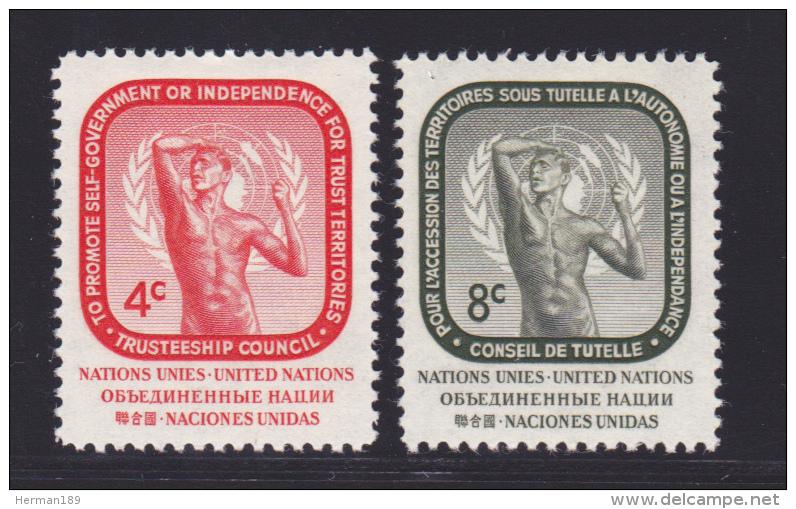 NATIONS UNIES NEW-YORK N°   70 & 71 * MLH Neufs Avec Charnière, TB  (D1304) - New York -  VN Hauptquartier