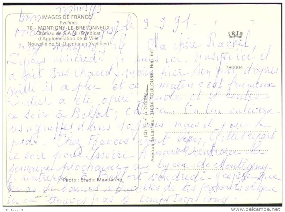 MONTIGNY-LE-BRETONNEUX 78 - Château Se S.A.N. - 9.9.1991 - X-3 - Montigny Le Bretonneux