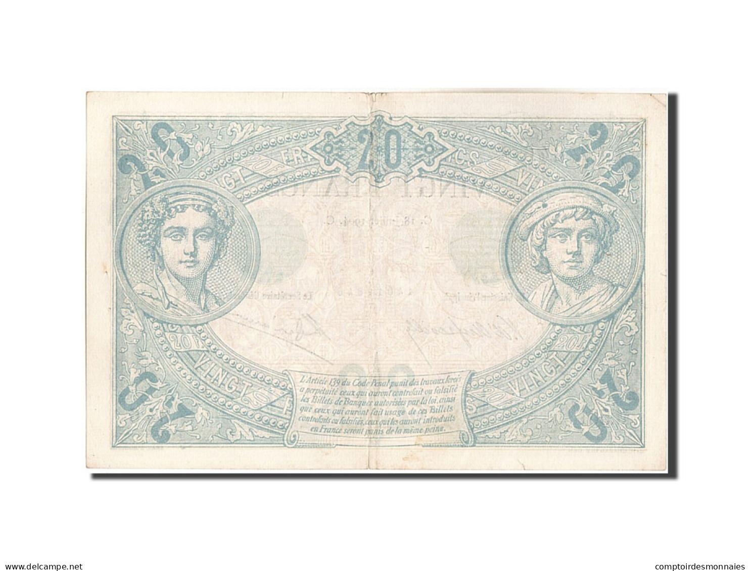 France, 20 Francs, 20 F 1874-1905 ''Noir'', 1904, 1904-07-18, KM:61a, TTB+, F... - 1871-1952 Antichi Franchi Circolanti Nel XX Secolo