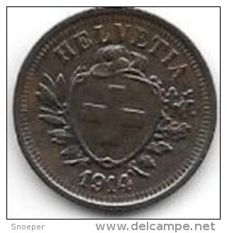 Switzerland 1 Rappen 1914  Km 3.2 Xf+ - Zwitserland