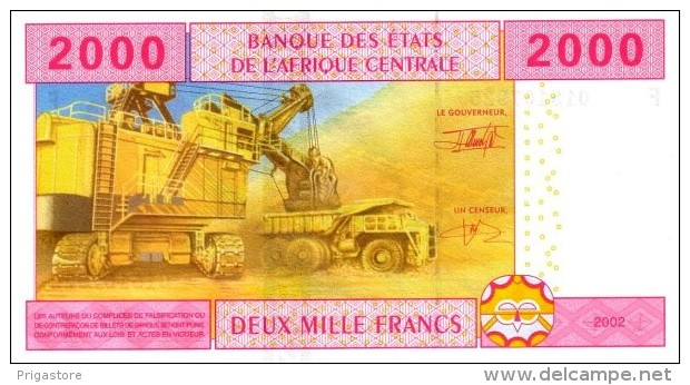 East African States - Afrique Centrale Guinée Equatoriale 2002 Billet 2000 Francs Pick 508 Neuf 1er Choix UNC - Guinée Equatoriale
