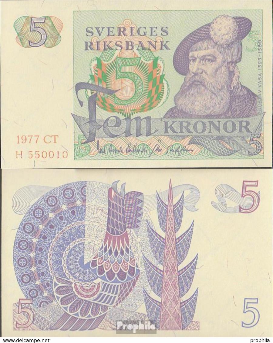 Schweden Pick-Nr: 51d (1977) Bankfrisch 1977 5 Kronor - Schweden
