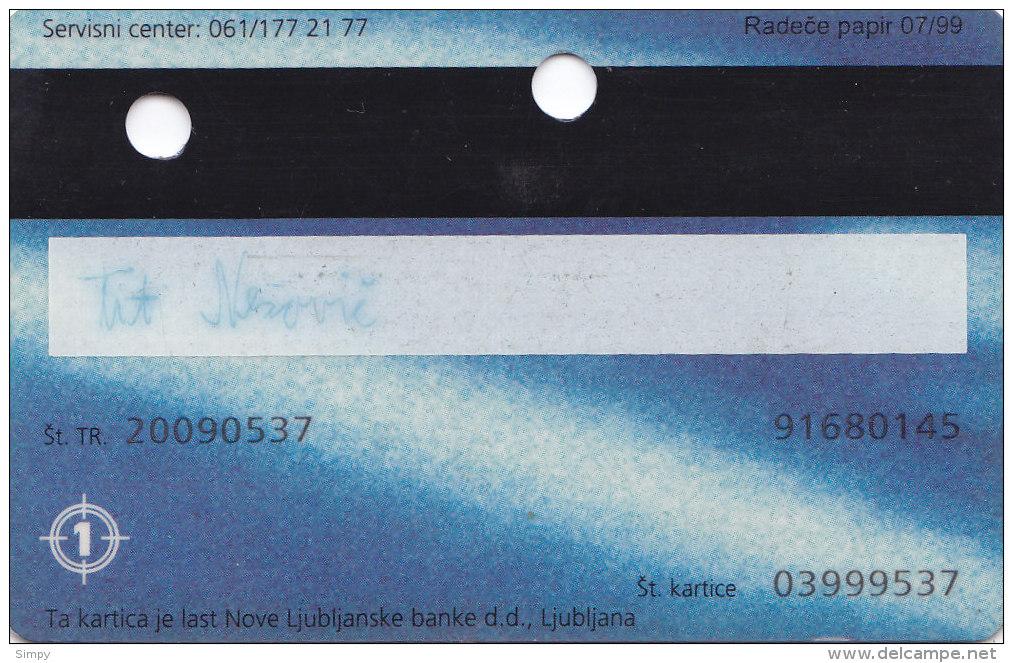 Slovenia Credit Card BA Ljubljanska Banka - Geldkarten (Ablauf Min. 10 Jahre)