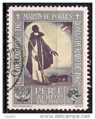 B259 - Peru 1965 - Canonization Of St. Martin De Porras 1962 - Paintings Used - Peru