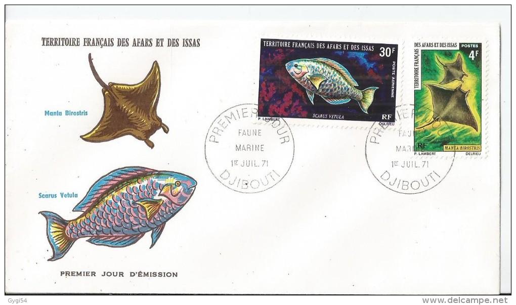 Afars Et Issas FDC 1 Juillet  1971 Faune  Sauvage  Djibouti - Afars Et Issas (1967-1977)