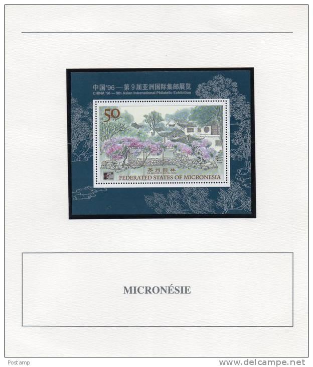 MICRONESIA--Bloc FeuilletN°23***neuf Impec -Garden Of Suzhou-CHINA - Micronésie