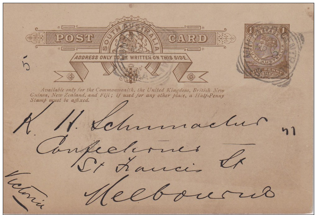 South Australia; Postal Card 1906 - 1855-1912 South Australia