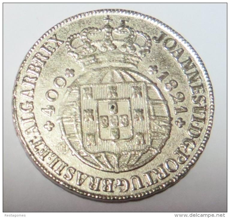 D Joao VI  Cruzado  (Replica Com Banho De Níquel  Mate  REPRODUCTION  Fausse Monnaie) - 2 Scans - Counterfeits