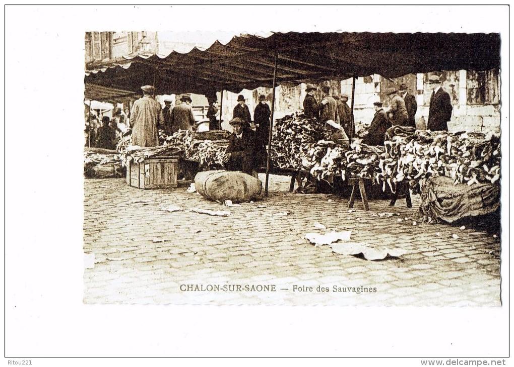 Reproduction - CHALON SUR SAONE - 71 - Foire Des Sauvagines - Peaux Lapins - Thème Fourreur - Chalon Sur Saone