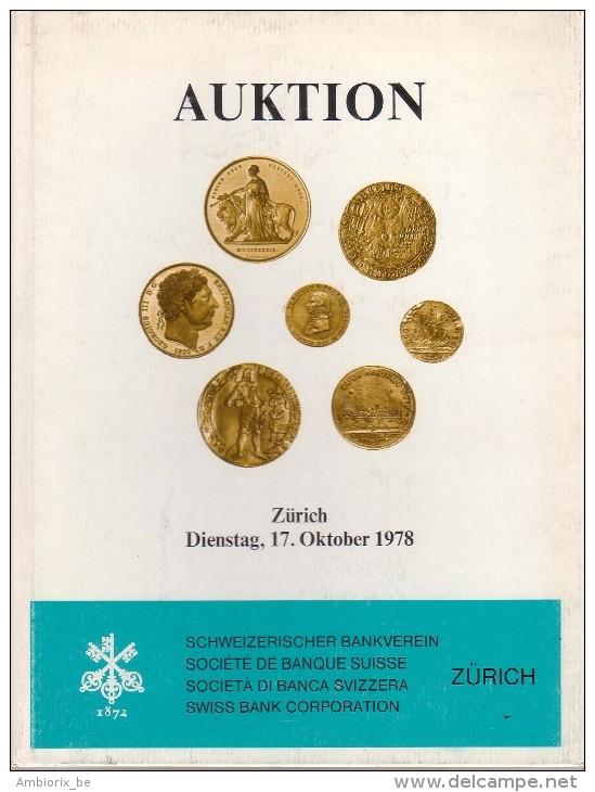Auktion - Zürich - 17-10-1978 - Société De Banque Suisse - Schweizerischer Bankveren - Catalogue De La Vente - German