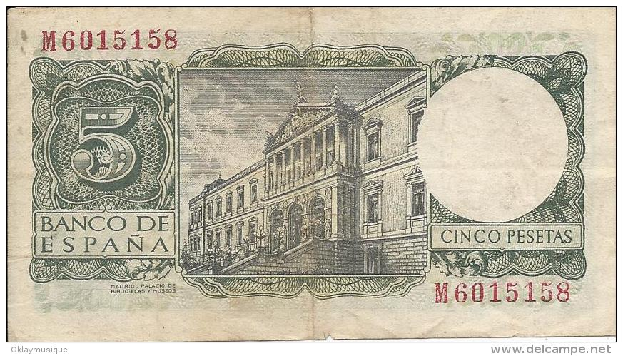 5 Pesetas 1954 - 5 Pesetas