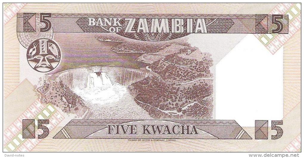 Zambia - Pick 25d - 5 Kwacha 1980-1988 - Unc - Zambie