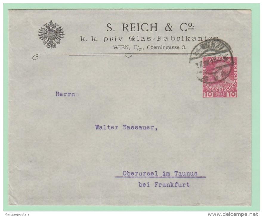 Aut1. Entier Postal Privé. KuK Glass Fabrikanten = Verre /optique/chimie Etc.   Wien 27.4.14 - Interi Postali