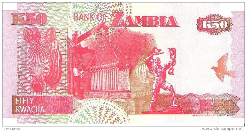 Zambia - Pick 37b - 50 Kwacha 1992 - Unc - Zambie