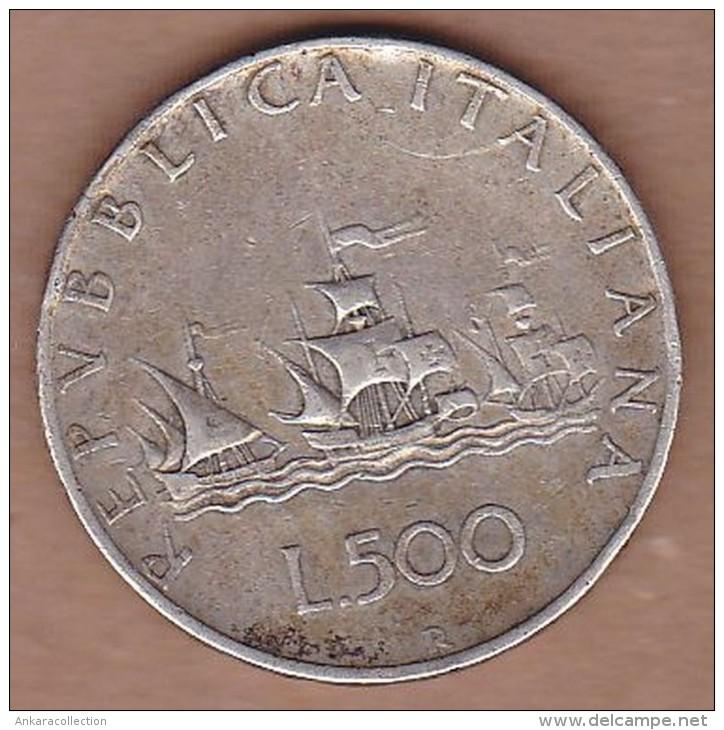L 500 R 1958 Silver Coin Giampaoli Ships