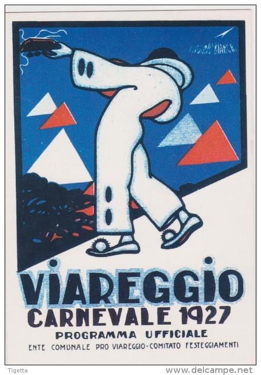 CARNEVALE DI VIAREGGIO 1927  RIPRODUZIONE CARTOLINE STORICHE IN OCCASIONE DEI 130 ANNI DEL CARNEVALE - Viareggio