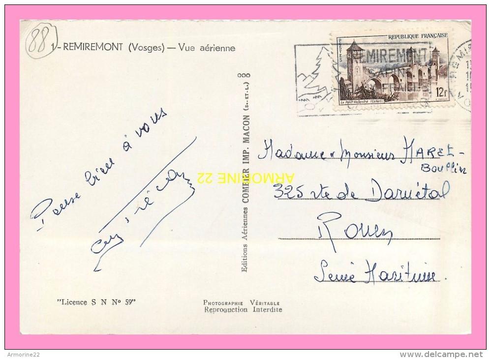 CPSM   REMIREMONT  Vue Aerienne - Remiremont