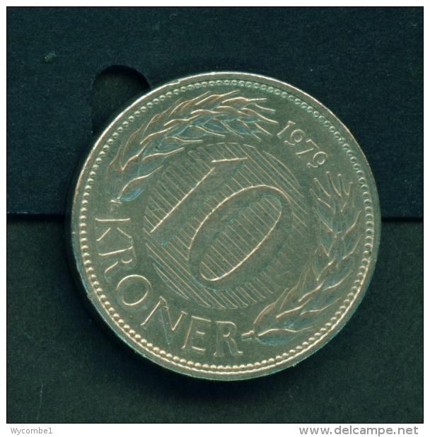 DENMARK  -  1979  10k  Circulated Coin - Denmark
