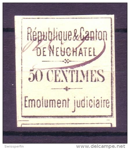 792 - NEUCHATEL - Erste Fiskalmarke - Fiscaux