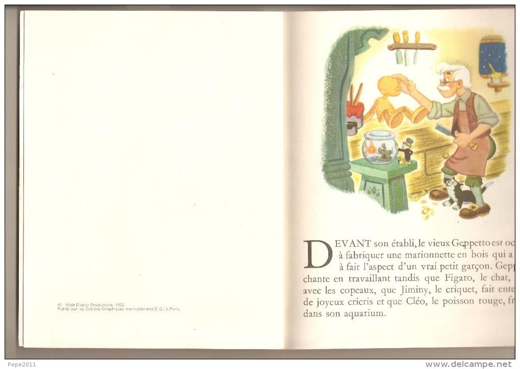 Album PINOCCHIO  Albums Roses Hachette Disney 1963 - Livres, BD, Revues