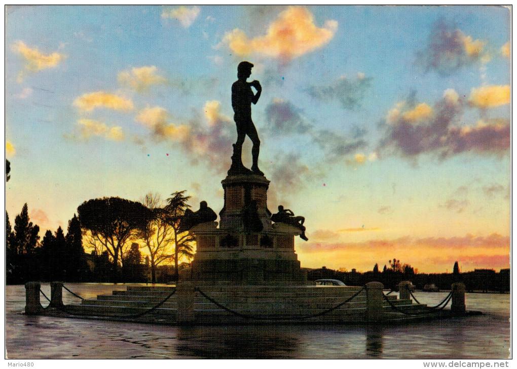FIRENZE  PIAZZALE  MICHELANGELO   TRAMONTO   (VIAGGIATA) - Firenze