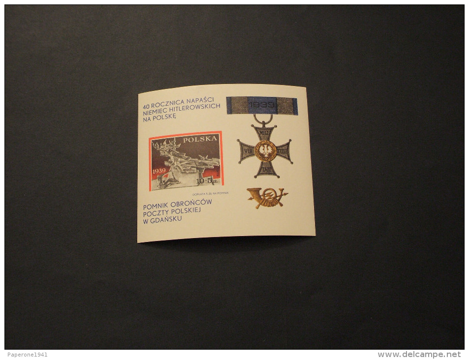 POLONIA - BF 1979 AGGRESSIONE - NUOVO(++) - Blocks & Sheetlets & Panes