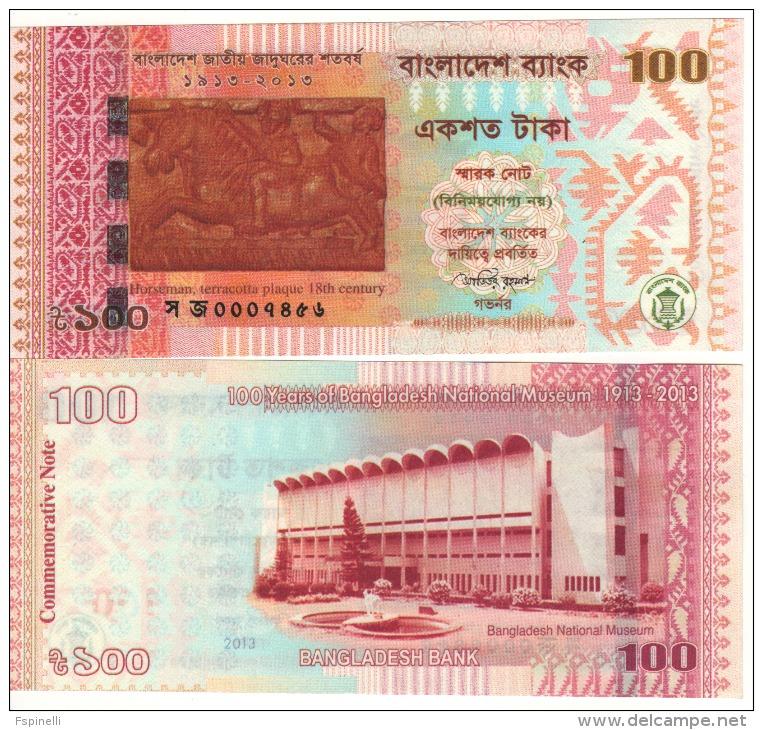 "BANGLADESH   100  Taka  ""Commemorative Issue""  P63    2013    UNC - Bangladesh"