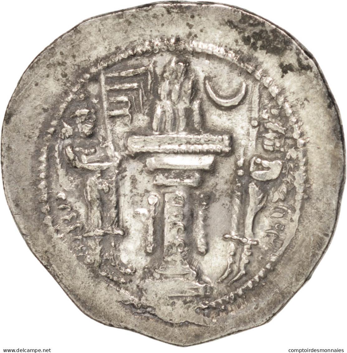 Sassanides, Yazdgard Ier (390-420), Drachme, Göbl 149 Var. - Orientales