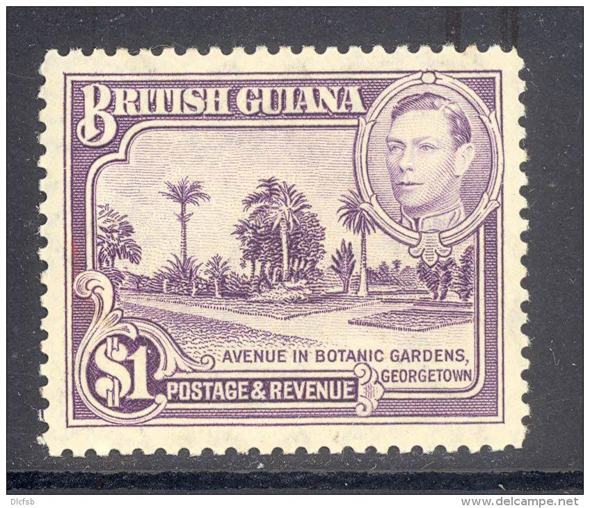 BRITISH GUIANA, 1938 $1 Mint Never Hinged (MNH), Cat £27 - British Guiana (...-1966)