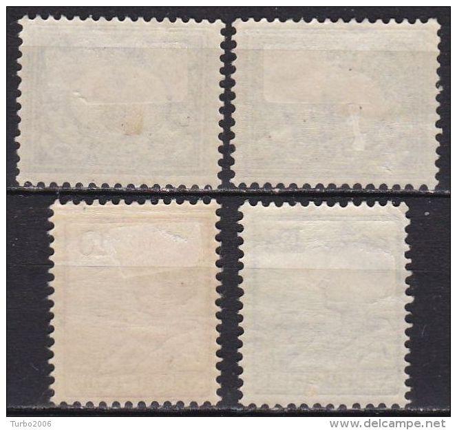 Ned. Indië: 1912-1930 Cijferserie / Koningin : 4 Ongestempelde Waarden: ½ Ct - 4 Ct - 10 Ct - 12½ Ct NVPH 99-107-115-116 - Indes Néerlandaises