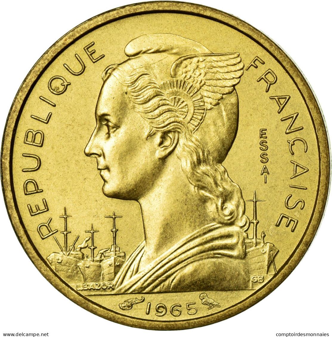 Monnaie, Côte Française Des Somalis, 10 Francs, 1965, Paris, FDC - Djibouti