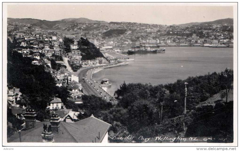 WELLINGTON (Neuseeland) - Oriental Bay, Fotokarte Um 1930 - Neuseeland
