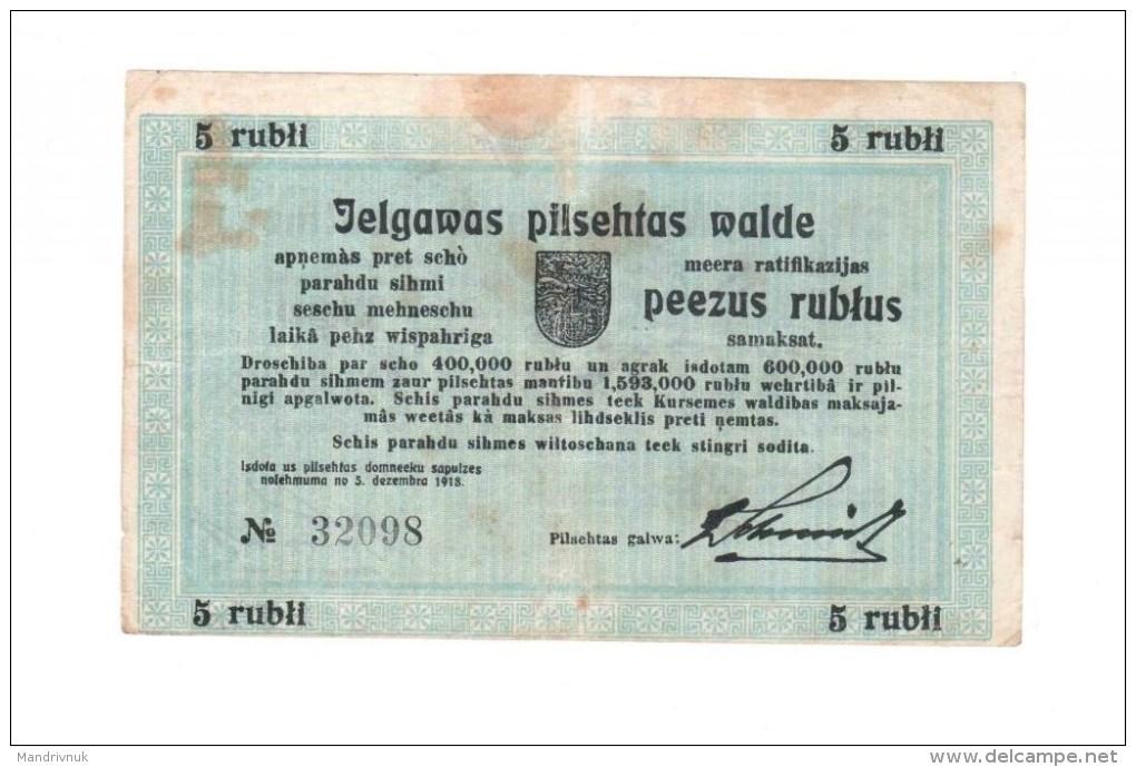 Russia / Mitau 5 Rubles - Russie